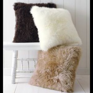 IKEA faux fur throw pillows cover
